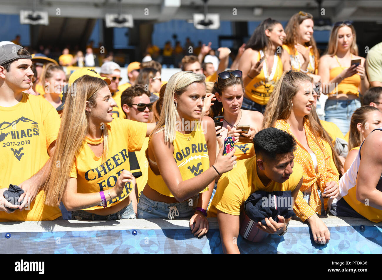 Morgantown West Virginia Usa 6th Oct 2018 Fans In The