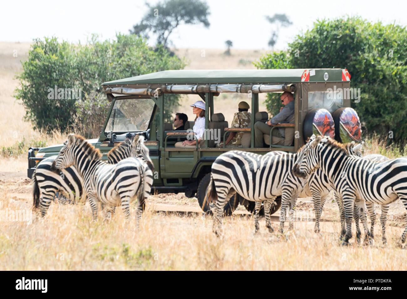 853d894e654 First Lady Melania Trump participates in a safari tour with Nelly Palmeris