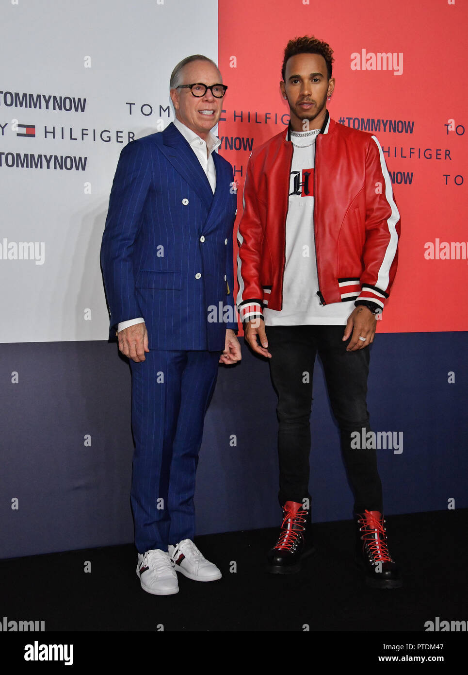 e565de96b Fashion designer Tommy Hilfiger(L) and racing driver Lewis Hamilton attend  the event