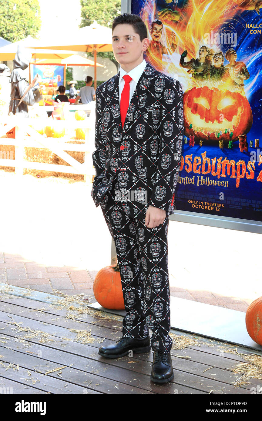 Culver City, USA. 07th Oct, 2018. Peyton Wich at the special screening of the movie 'Goosebumps 2: Haunted Halloween/Gansehaut 2: Spooky Halloween' in the Sony Pictures Studios. Culver City, 07.10.2018 | usage worldwide Credit: dpa/Alamy Live News - Stock Image