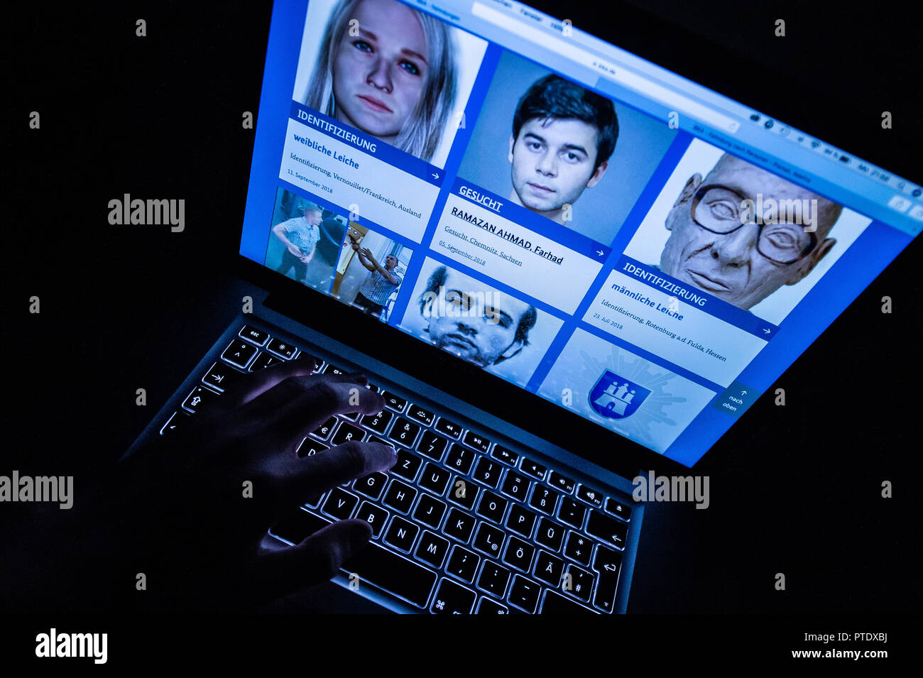 Federal search of criminals and missing persons
