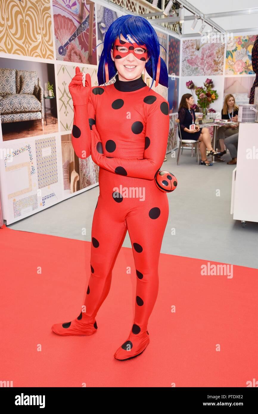 Olympia, London, UK. 9th October, 2018. Cat Noir,Tales of Ladybug,Brand Licensing Europe,Olympia,London.UK Credit: michael melia/Alamy Live News - Stock Image