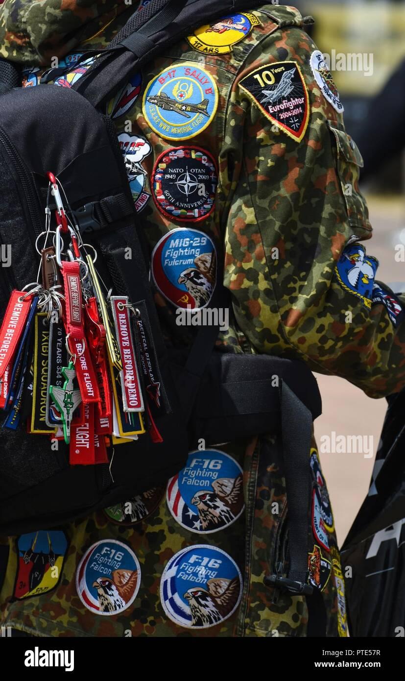 Military Memorabilia Collection Stock Photos & Military Memorabilia