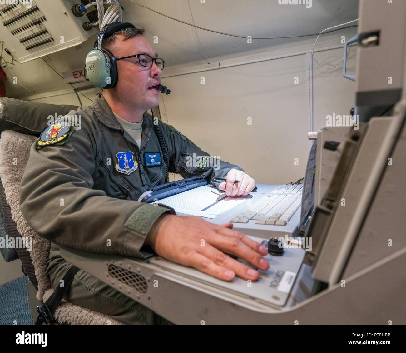 U S  Air Force Tech  Sgt  John Healton, an airborne