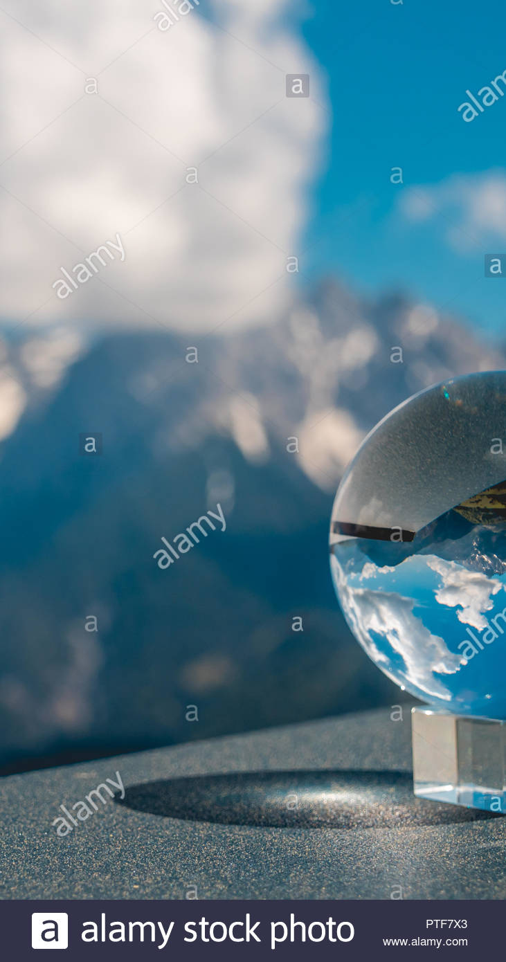 Smartphone Hd Wallpaper Of Crystal Ball Landscape At The