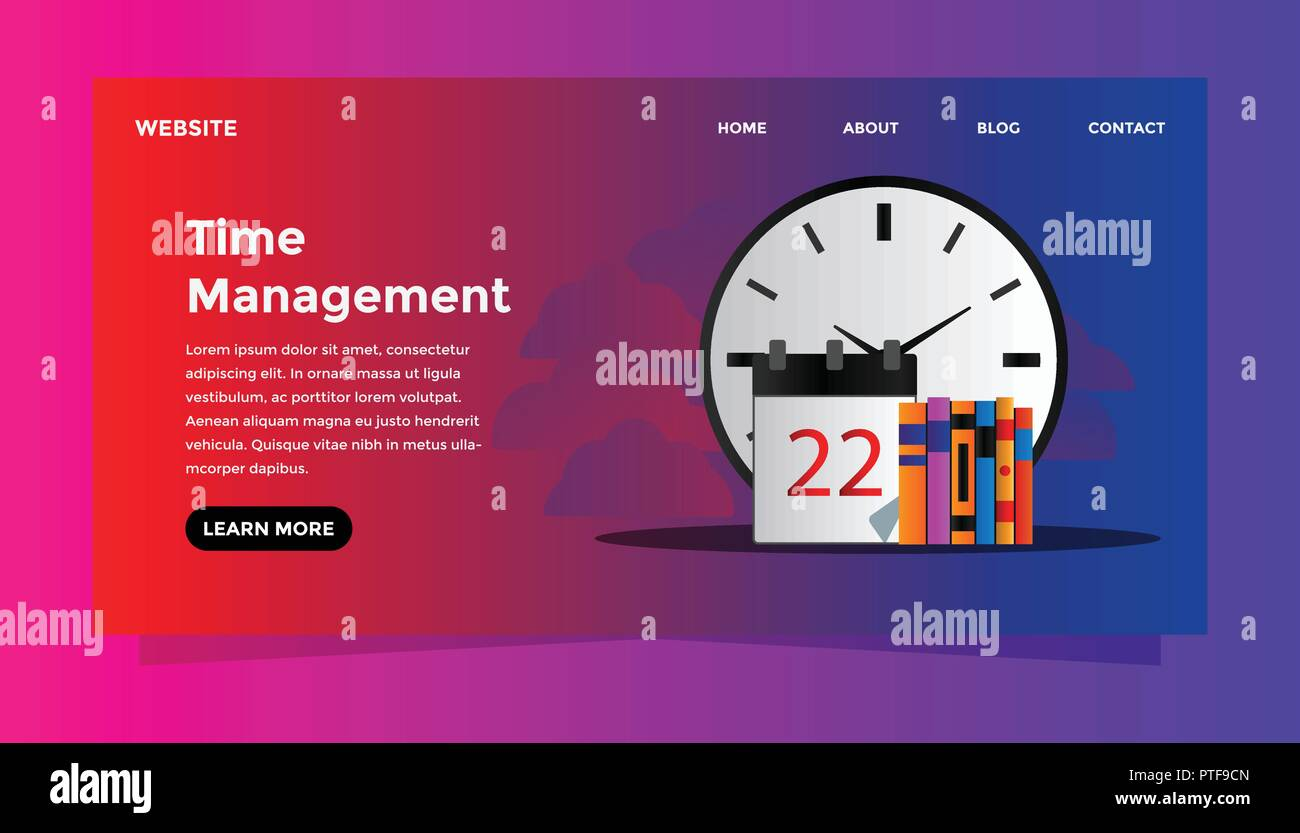 Time Management Concept Ready To Use Vector Illustration Suitable For Background Wallpaper Landing Page Web Banner Card And Other Creative Work Stock Vector Image Art Alamy