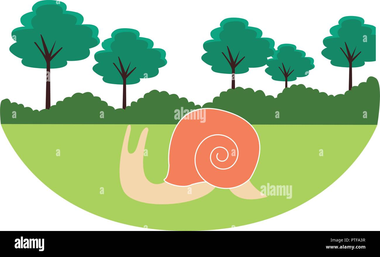 slug cute cartoon - Stock Vector
