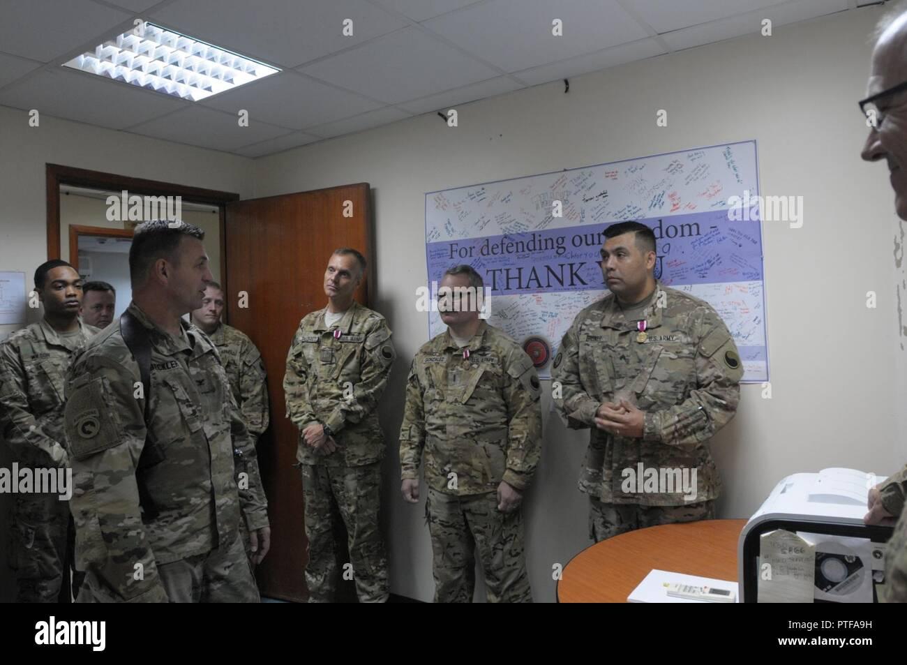 AL SALEM AIR BASE, Kuwait – Col  Mark Beckler (left), commander of
