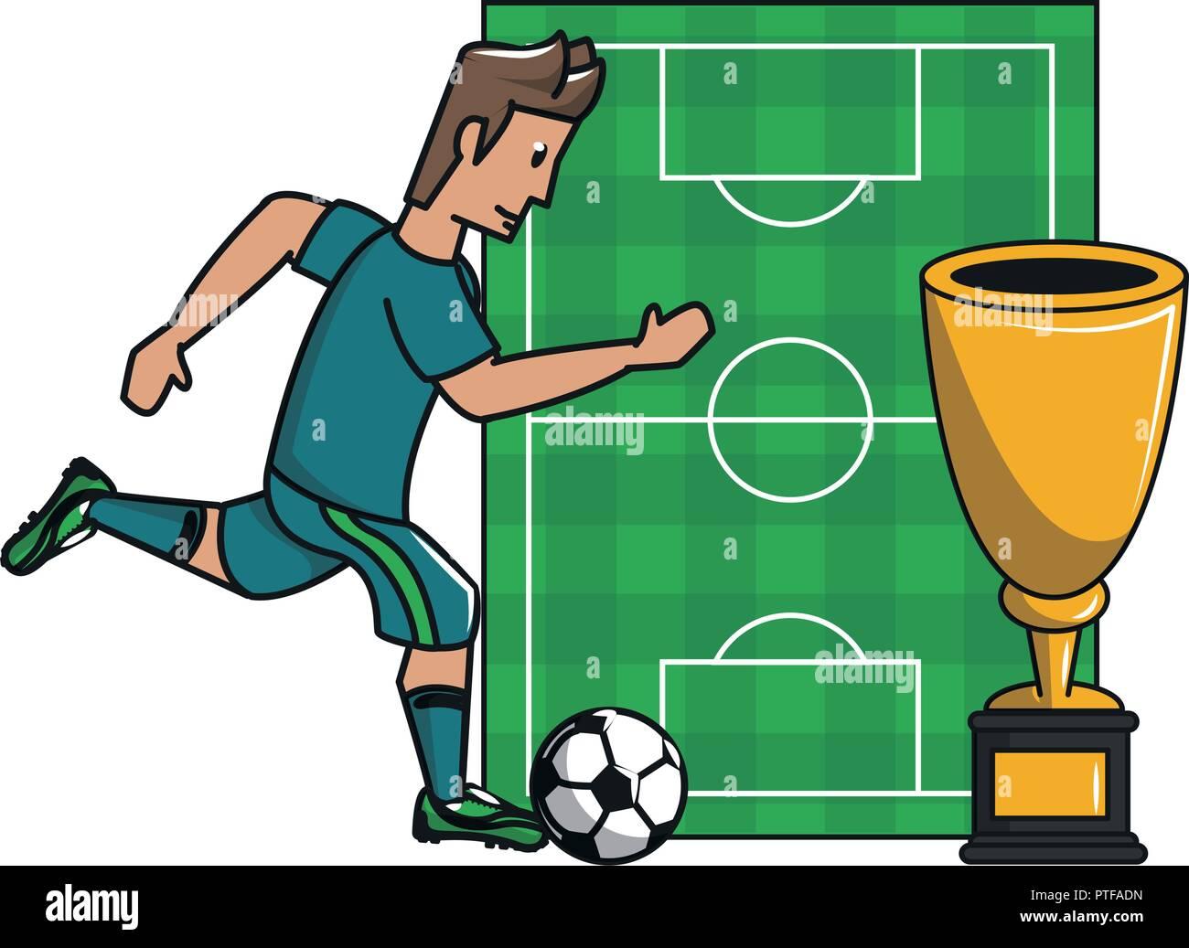Soccer sport game cartoons - Stock Vector