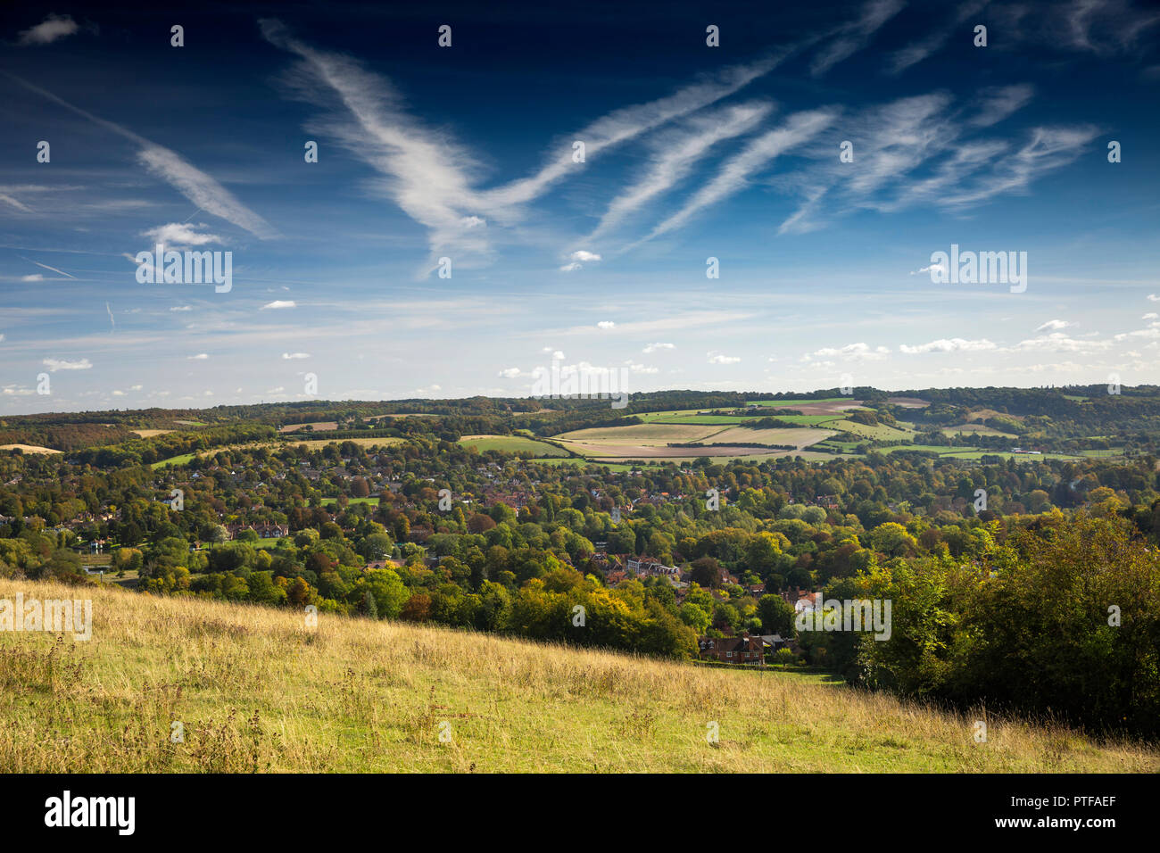 England, Berkshire,  Streatley, Lardon Chase overlooking the Goring Gap - Stock Image