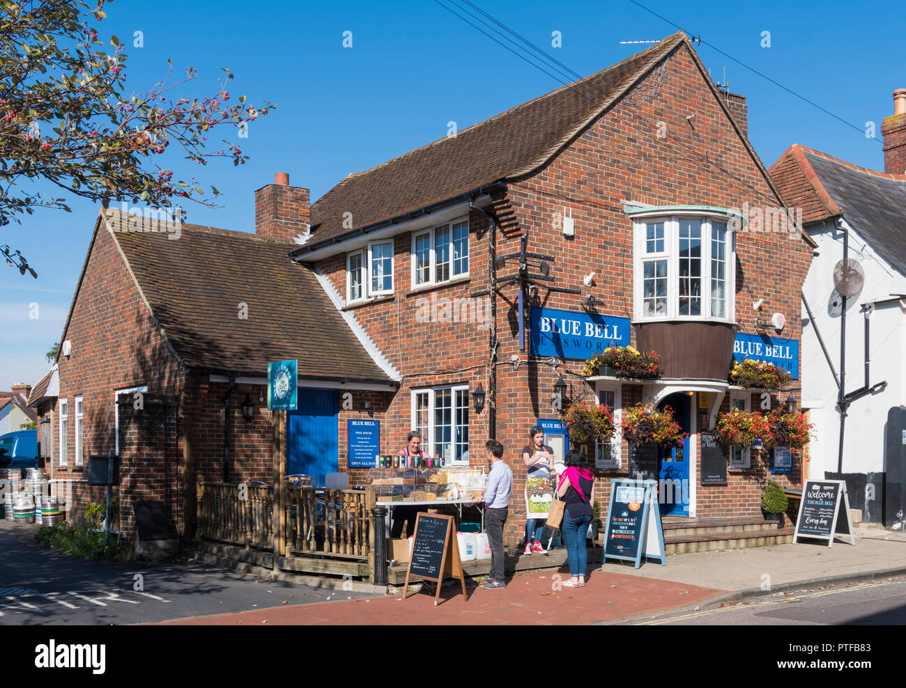 Blue Bell Inn, pub and restaurant in Emsworth, Hampshire, England, UK. - Stock Image