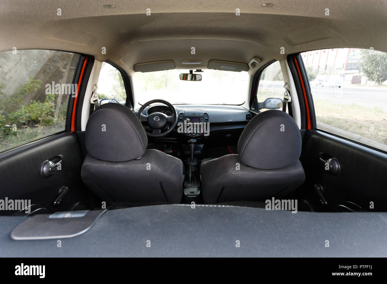 Dnipro Ukraine August 10 2016 Nissan Micra Interior Stock Photo Alamy