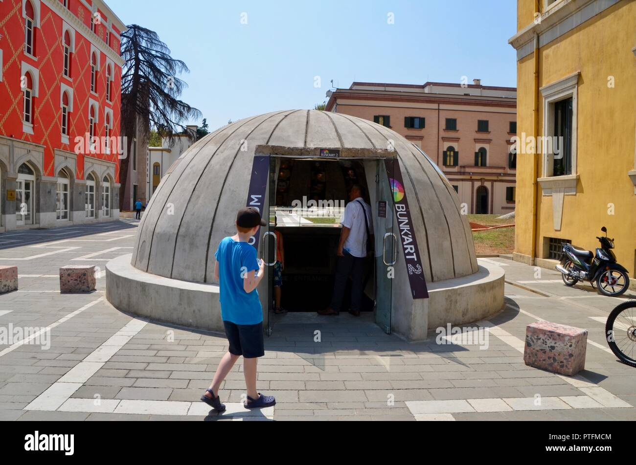 bunkart 2 tirana albania museum of albanian communist history in disued bunker - Stock Image