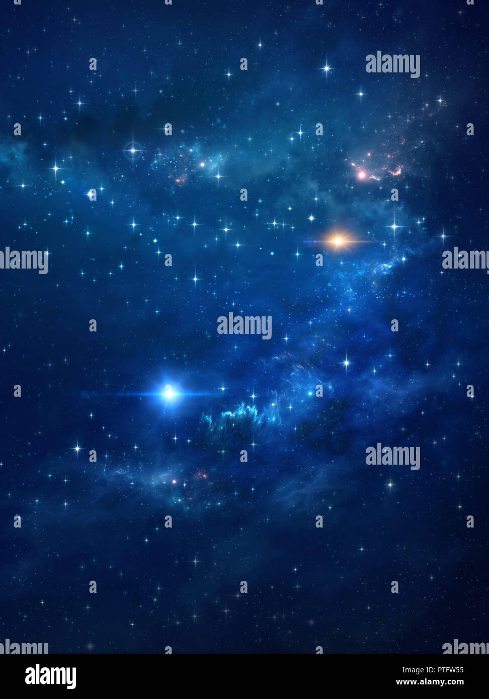 Galaxy and star lights in deep space. High definition universe background. - Stock Image