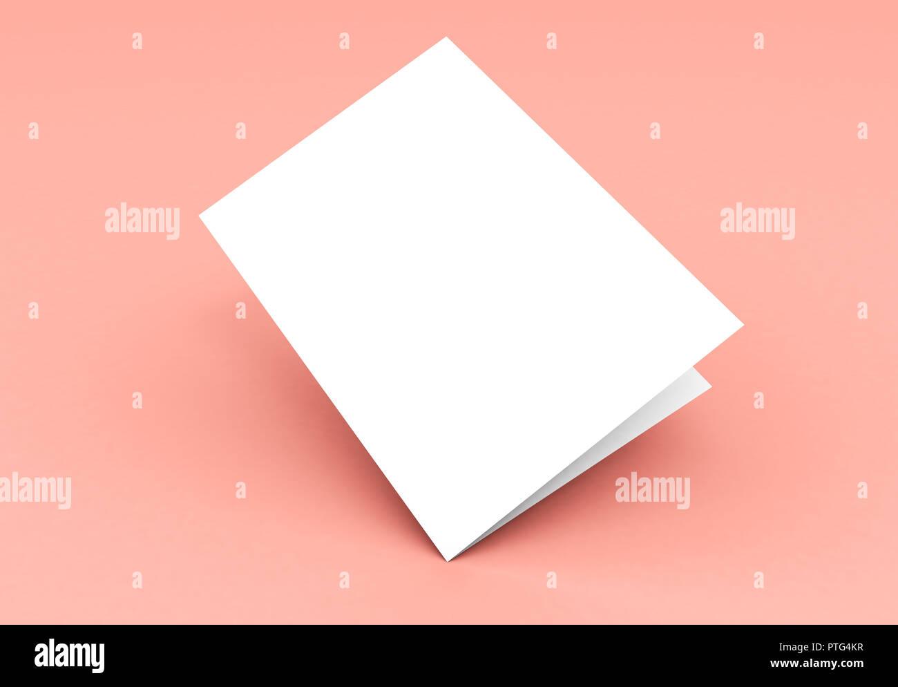 folder bi fold mockup 3d rendering cover floating stock photo