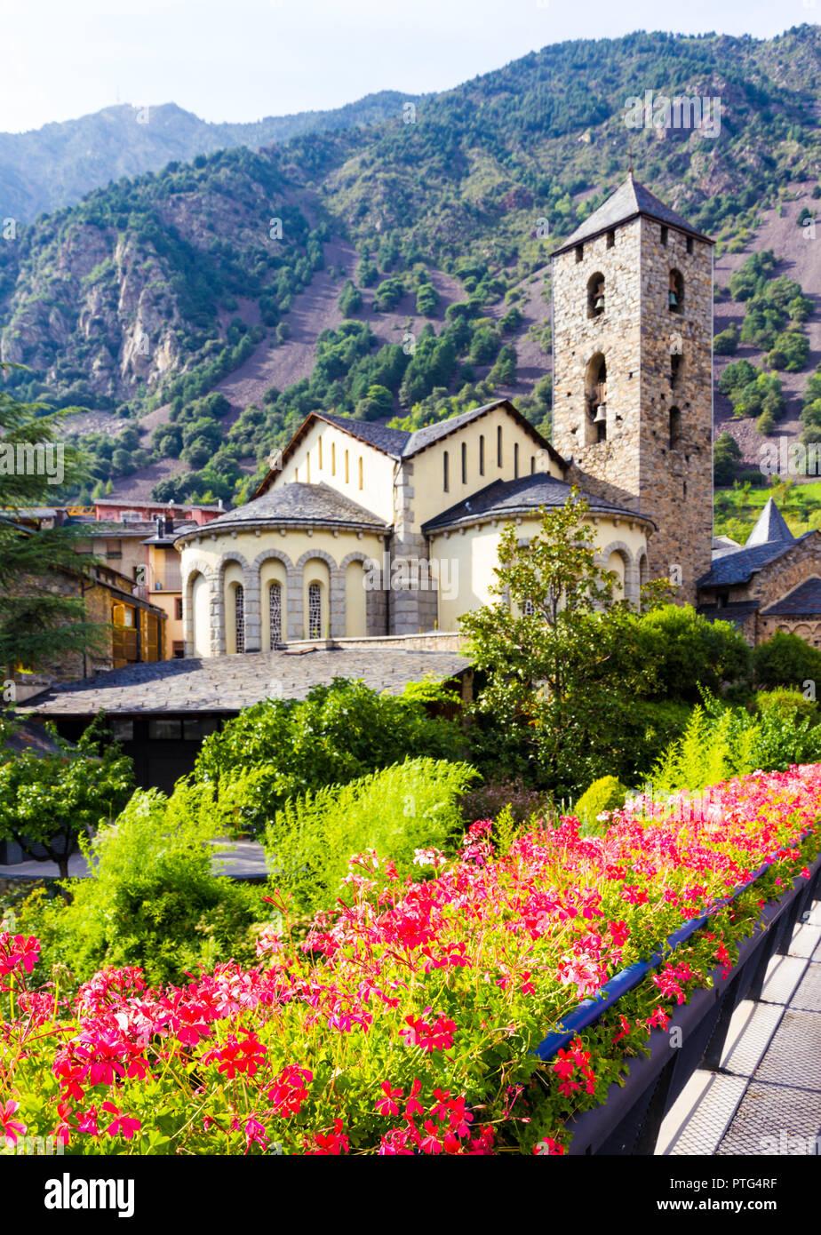 Sant Esteve church located in Andorra la Vella, Andorra Stock Photo