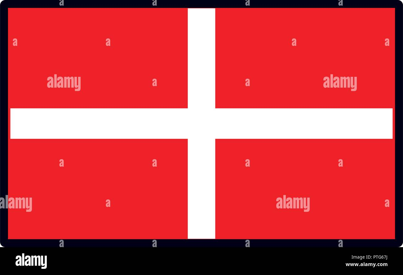 Denmark flag emblem - Stock Vector