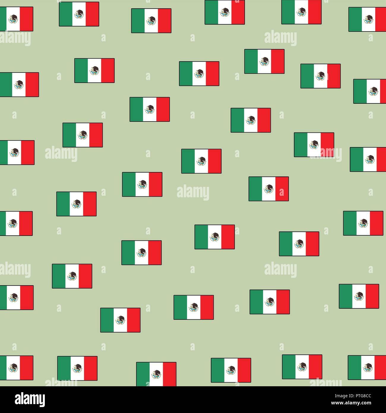 Mexico flag background - Stock Image