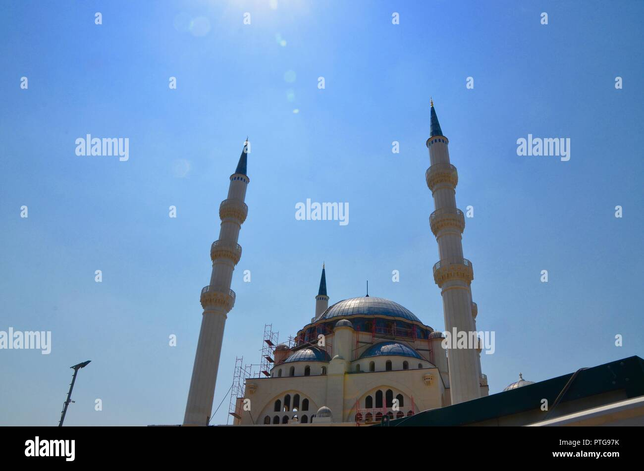 the Great Mosque of Tirana albania - Stock Image