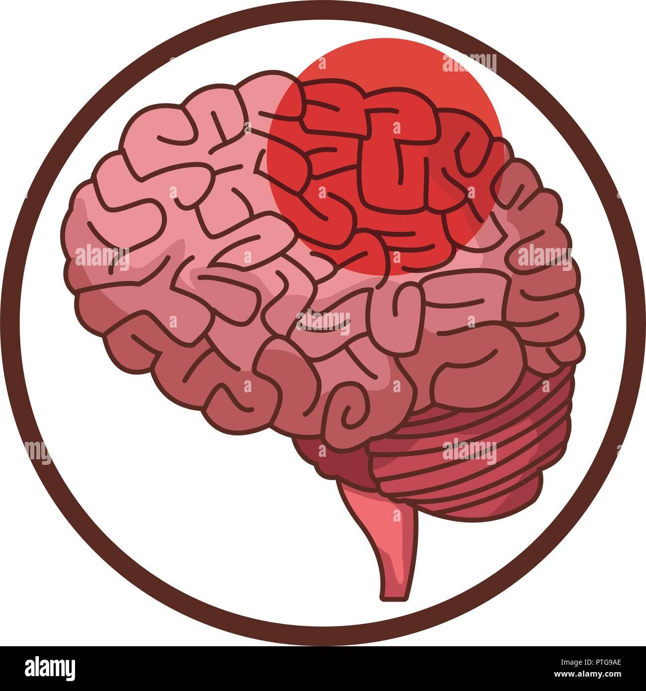 Alzheimer brain symbol - Stock Image