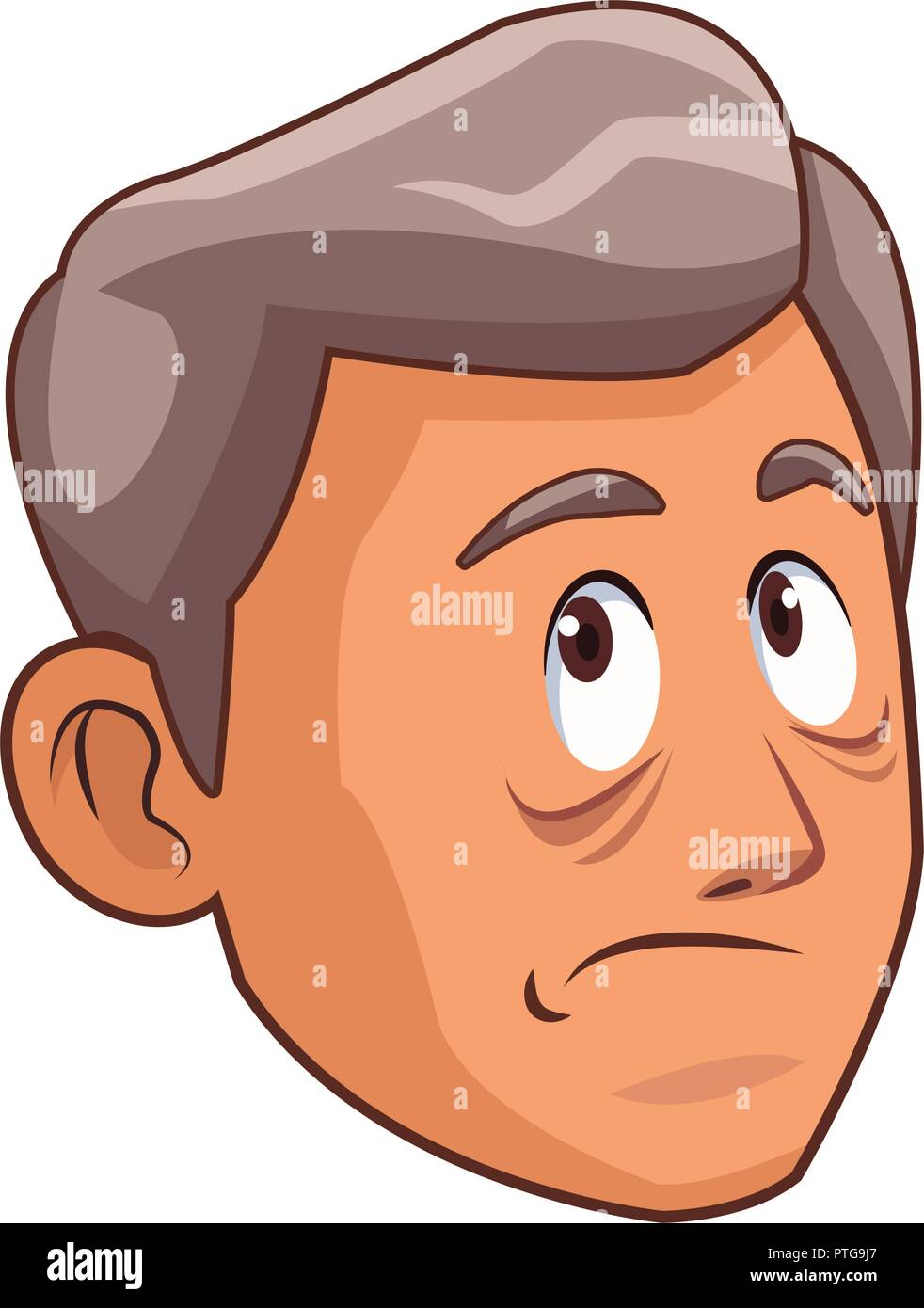 Alzheimer old man face - Stock Vector