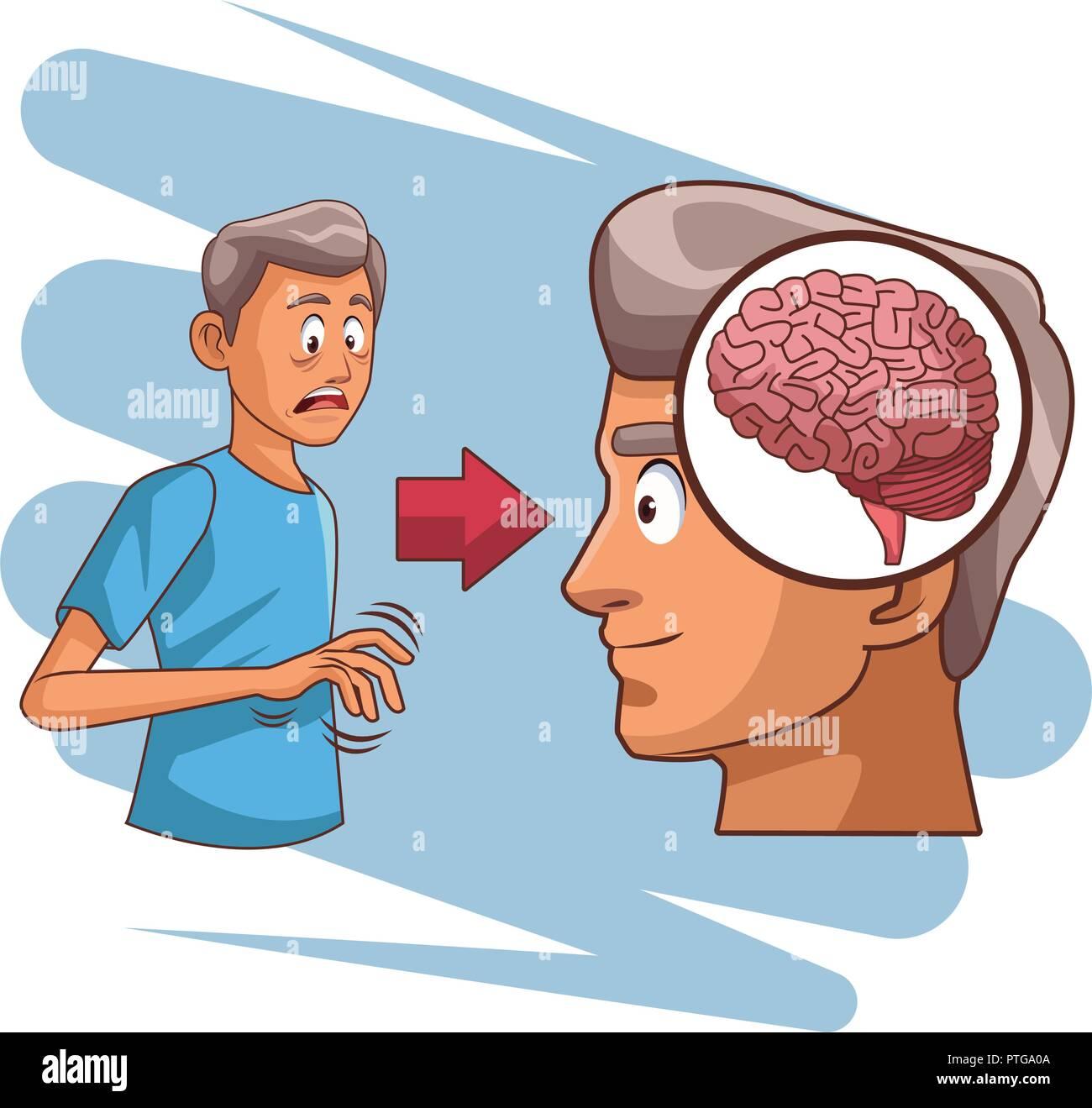 Alzheimer brain disease Stock Vector