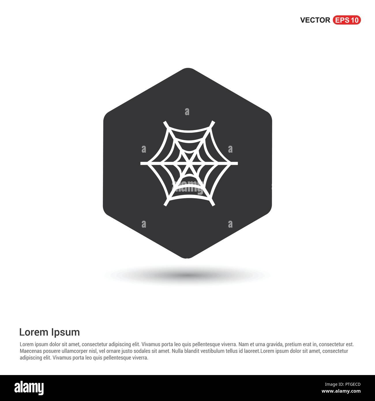 halloween spider web icon hexa white background icon template free