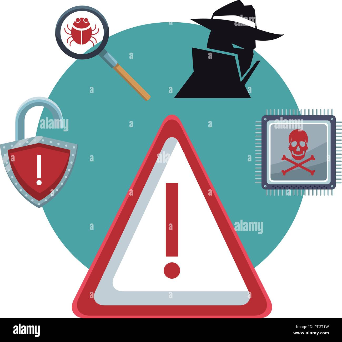 Security system technology - Stock Image