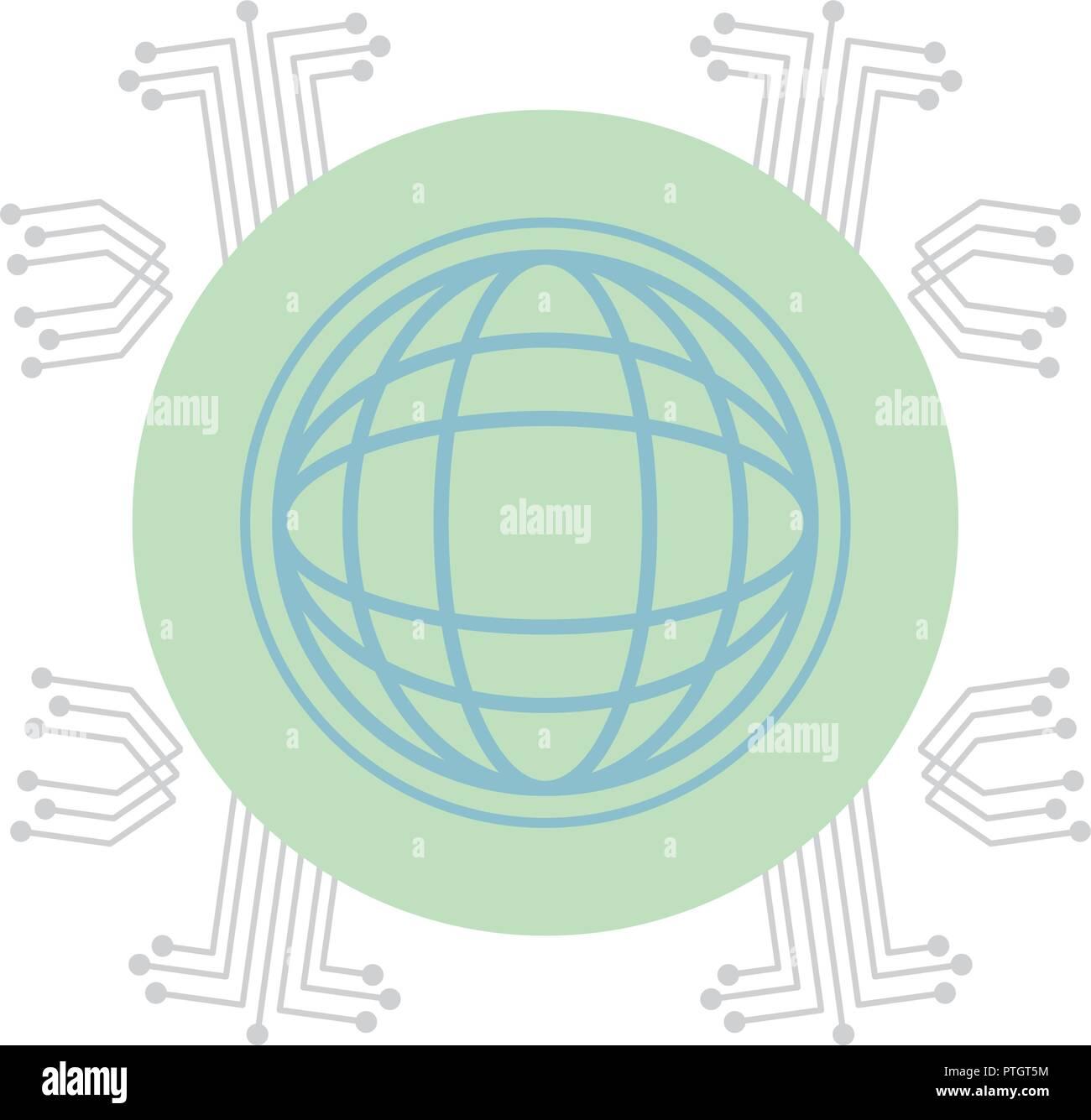 Global sphere symbol - Stock Image