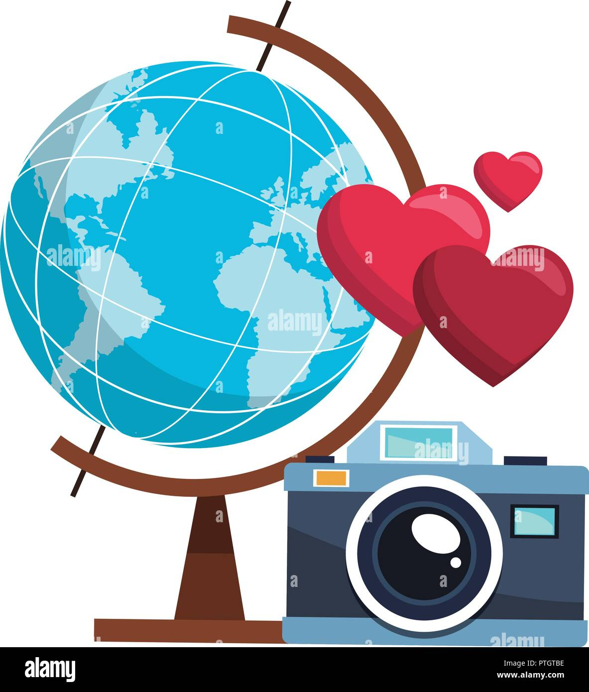 Photography and travel - Stock Vector