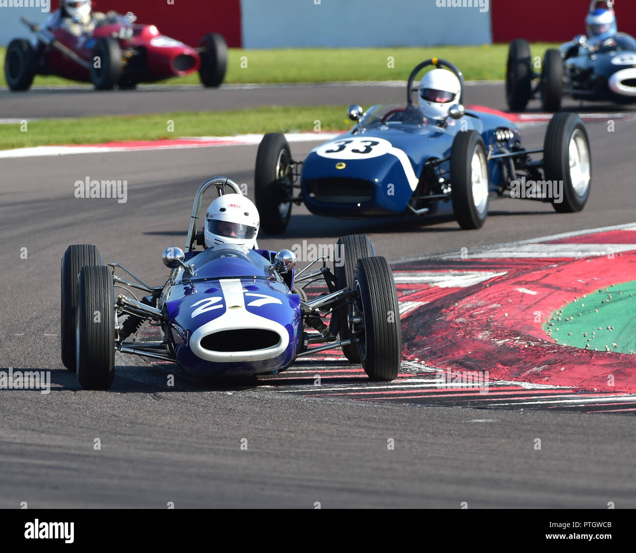 Richard Wilson, Lotus 27, FJHRA, HSCC, Championship for pre-64 Front and Rear Engined Formula Juniors, Donington Historic Festival, 2018, motor racing Stock Photo