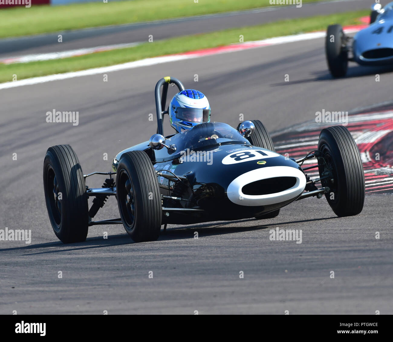Steve Futter, Lotus 20, FJHRA, HSCC, Championship for pre-64 Front and Rear Engined Formula Juniors, Donington Historic Festival, 2018, motor racing,  Stock Photo