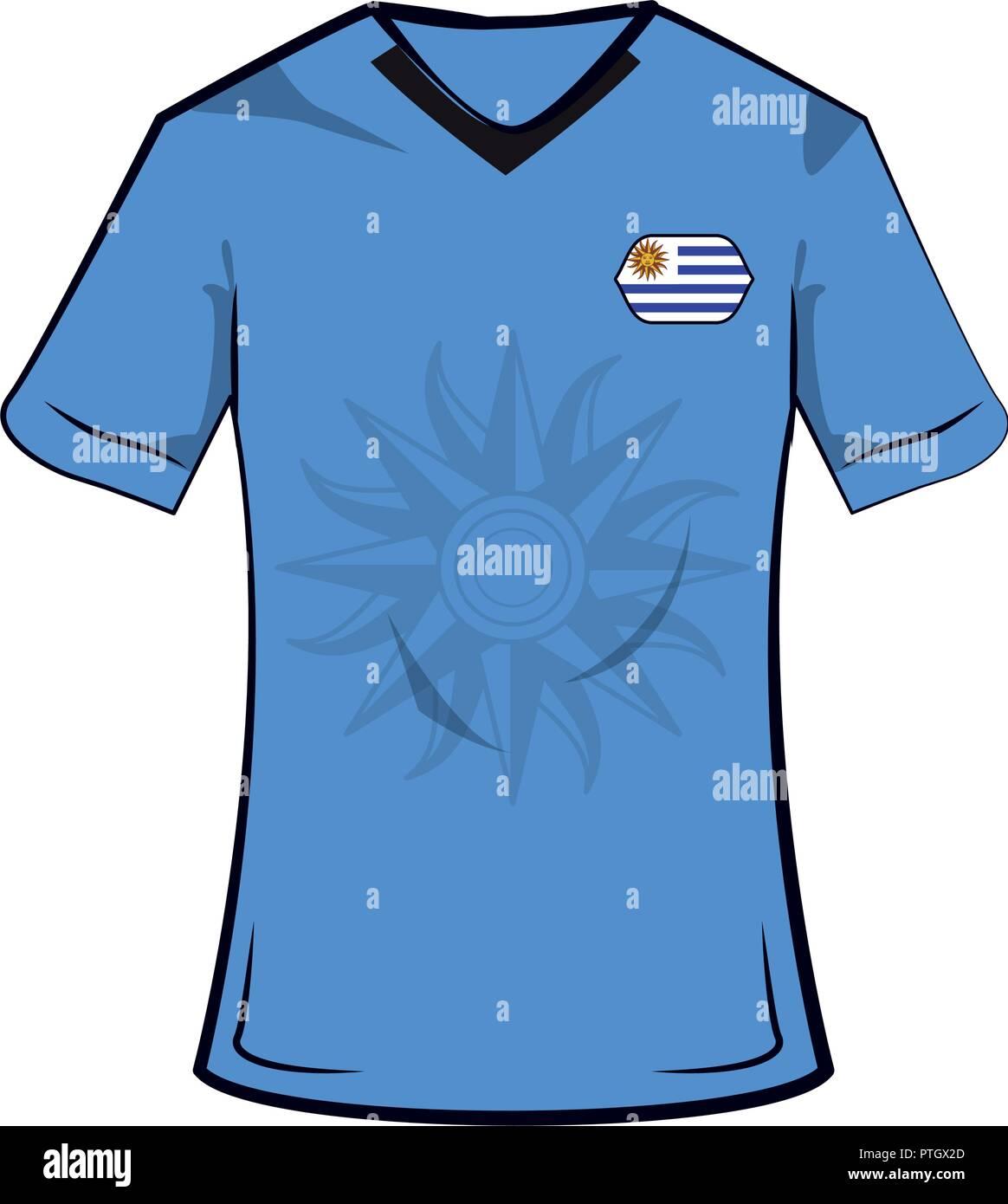 b2f7b914e53 Uruguay soccer tshirt Stock Vector Art & Illustration, Vector Image ...
