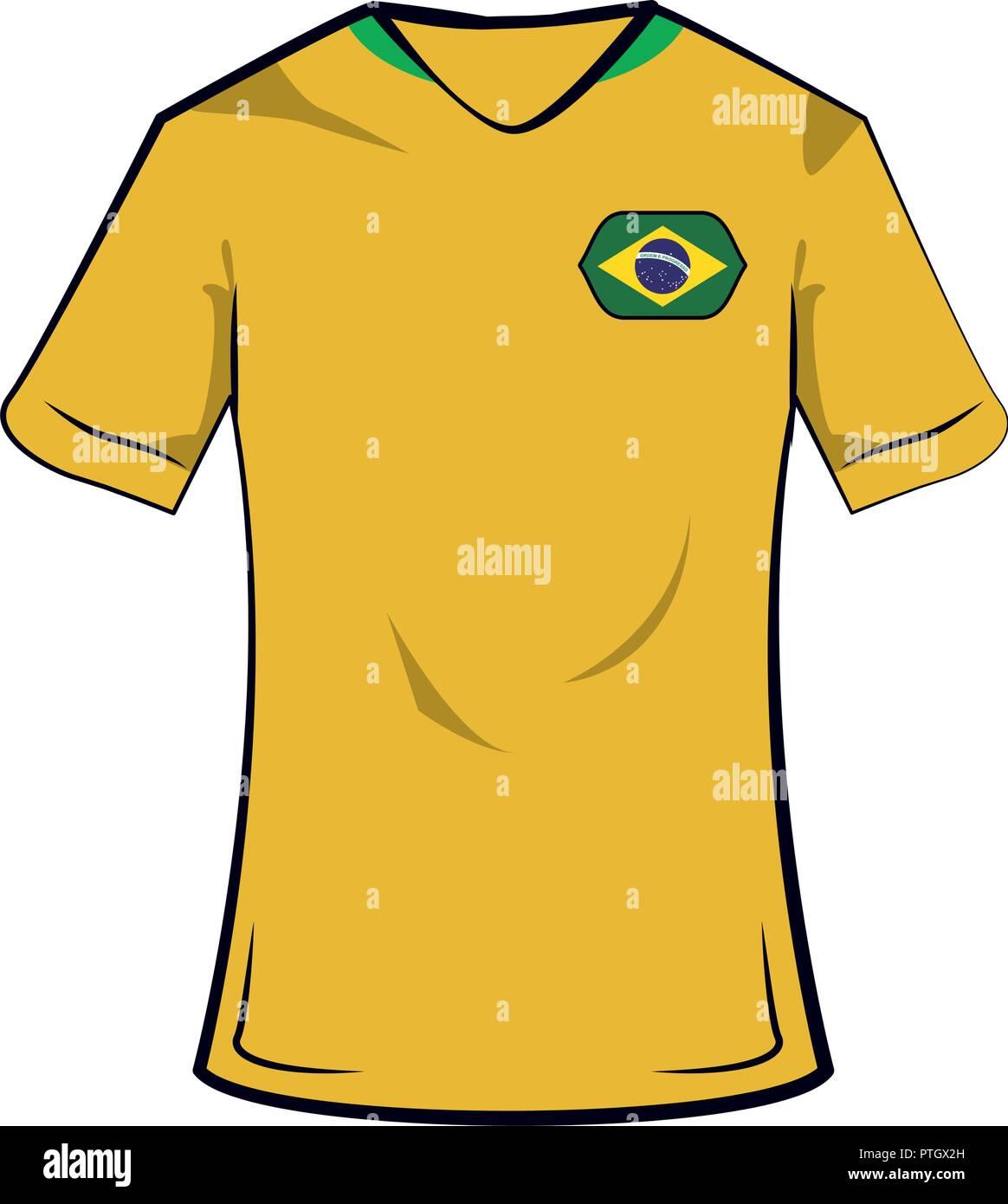 f48e0cc66c5e Soccer Jersey Brazil Stock Photos   Soccer Jersey Brazil Stock ...