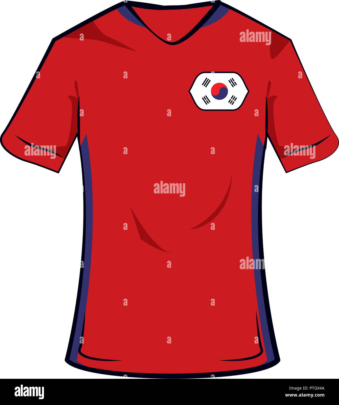 a829735ce South korea soccer tshirt Stock Vector Art   Illustration
