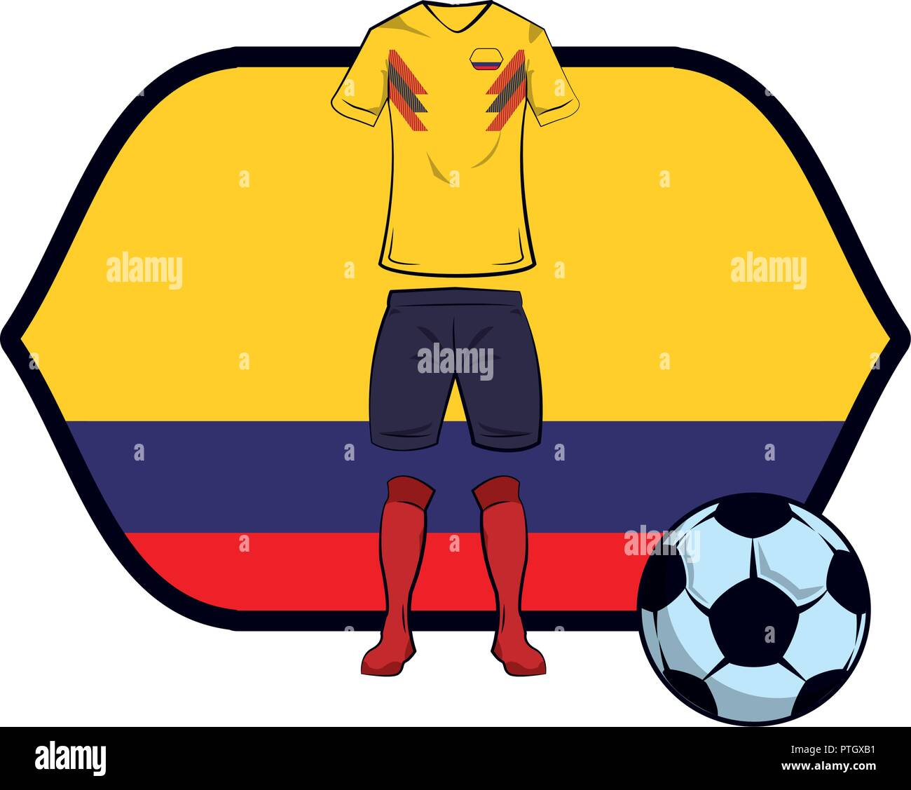 Colombia Soccer Ball Stock Photos   Colombia Soccer Ball Stock ... b40ba1655