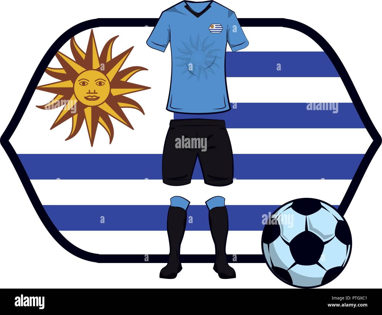 3a5cbed97f7 Uruguay soccer uniform Stock Vector Art & Illustration, Vector Image ...