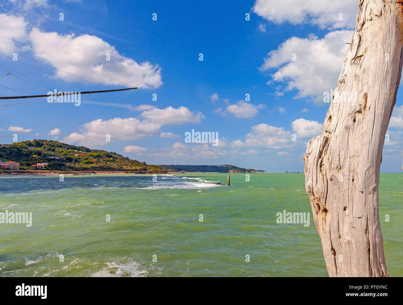Landscape at San Vito Ciento, Adriatic Sea coast  in the province of Chieti in the Abruzzo region of central Italy - Stock Image