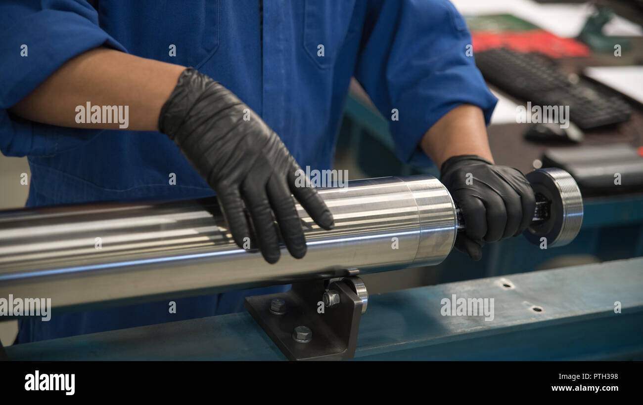 Stainless steel piping - Stock Image