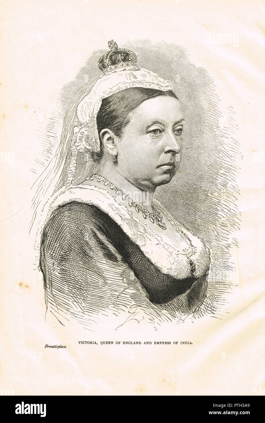 Queen Victoria, circa 1876 - Stock Image