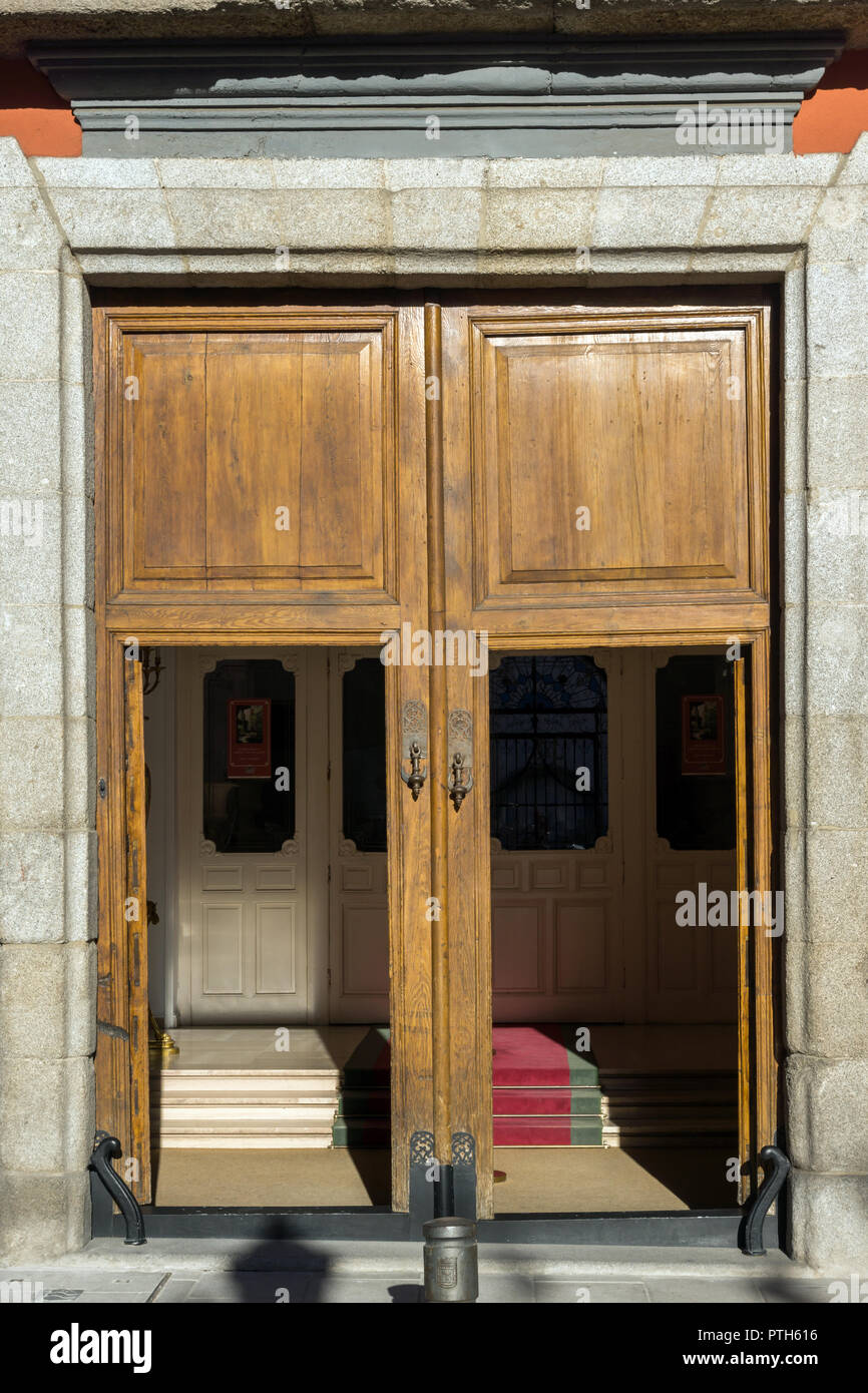 MADRID, SPAIN - JANUARY 24, 2018: Morning view of Museum of Romanticism in City of Madrid, Spain - Stock Image