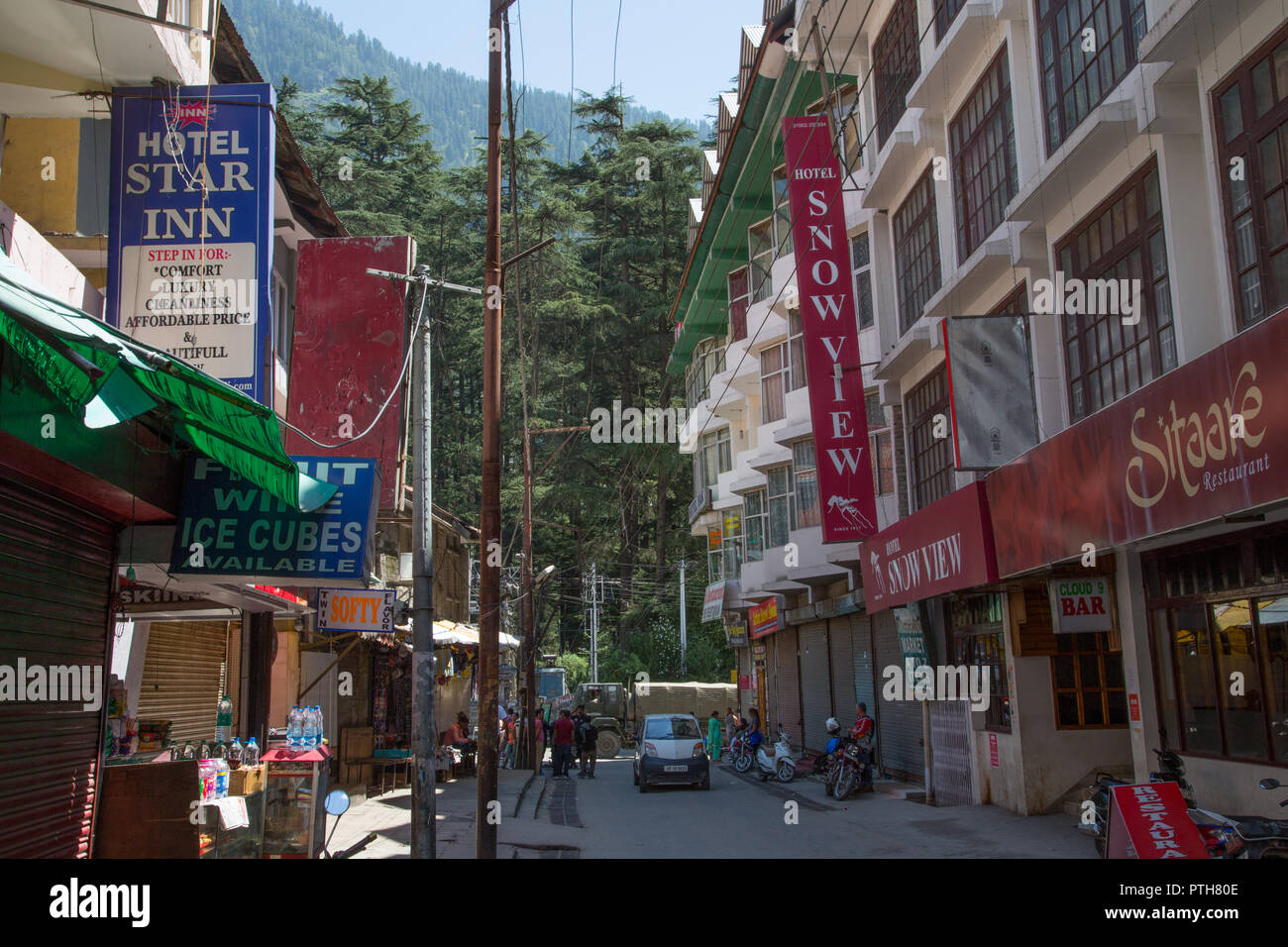 Manali Mall - Himachal Pradesh, India Stock Photo