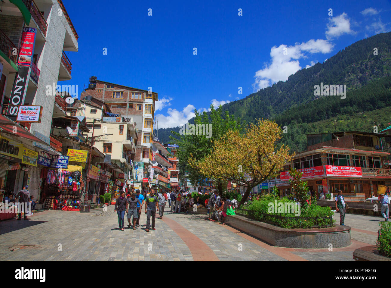 Manali Mall - Himachal Pradesh, India - Stock Image