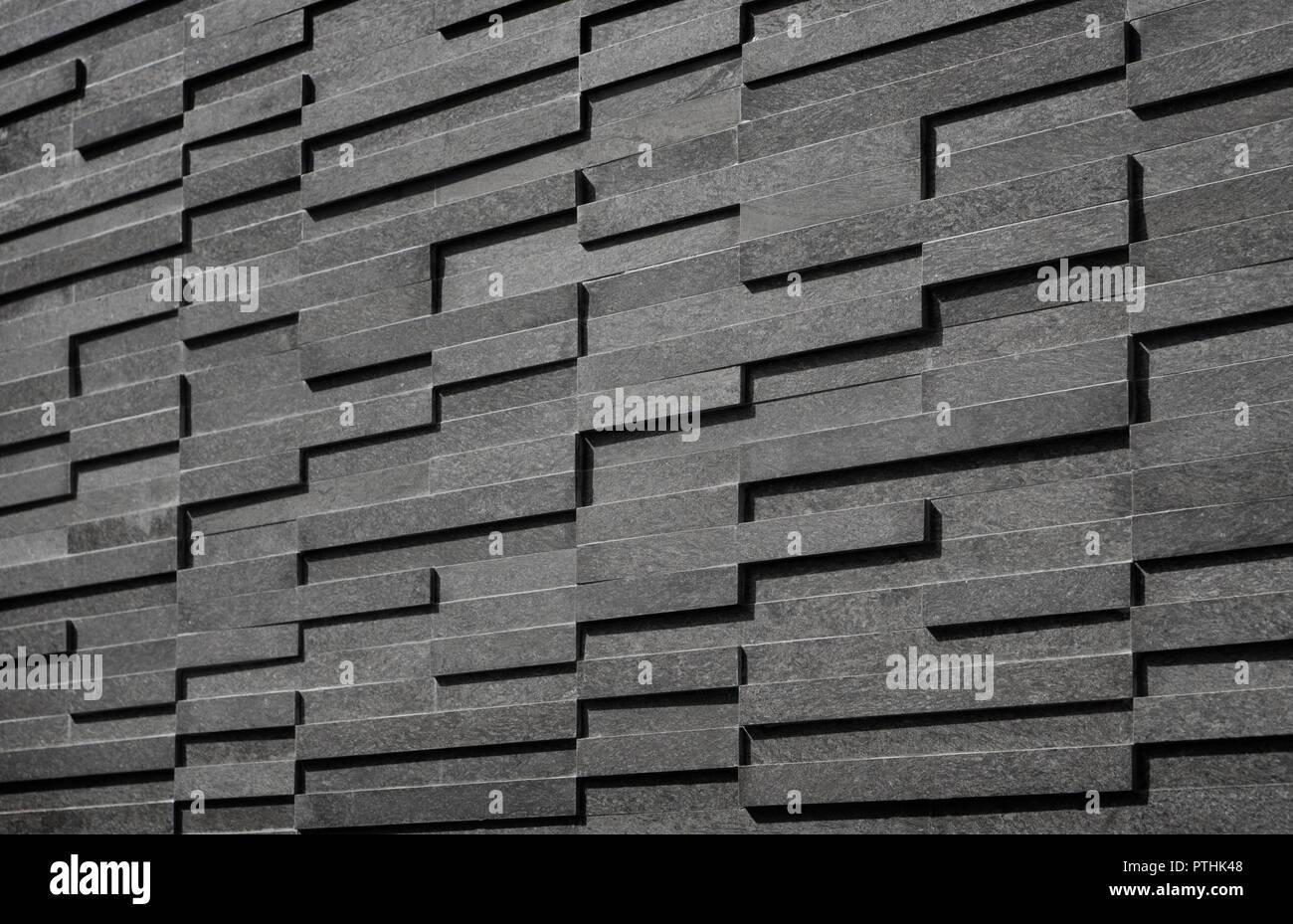 Modern Black And White Rectangle Tiles Background Light