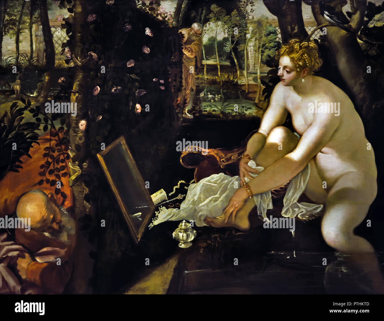 SUSANNA IN THE BATH 1555/1556 Jacopo Robusti, called Tintoretto (1518 - 1594 Venice) Italy Italian Stock Photo