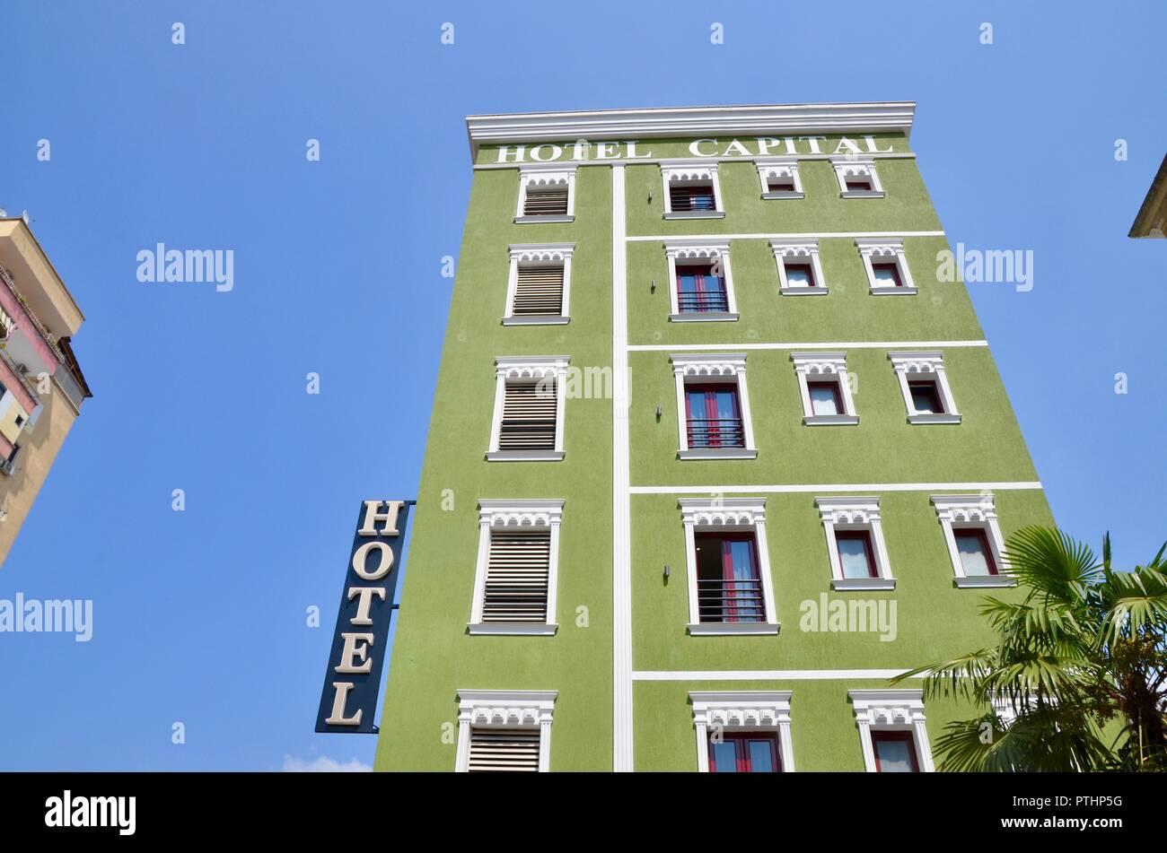 the hotel capital in tirana albania - Stock Image