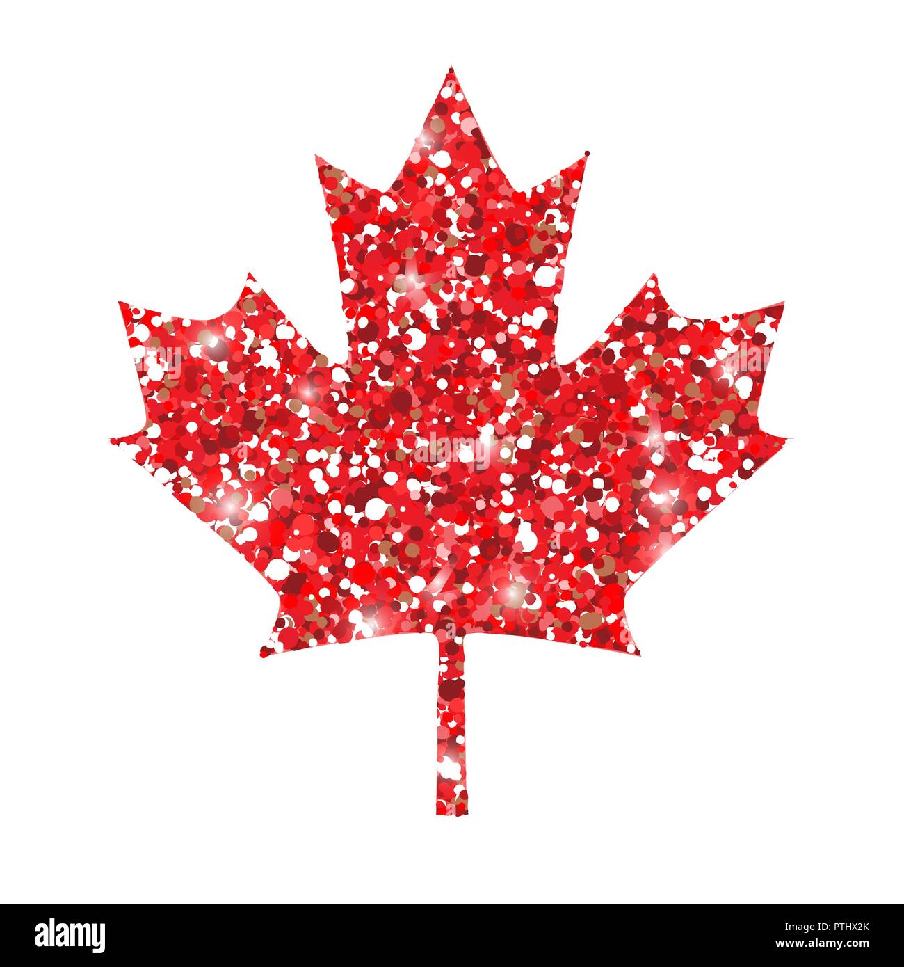 Happy canada day vector greeting card with red maple leaf glitter happy canada day vector greeting card with red maple leaf glitter background design for card posters canada day celebration m4hsunfo