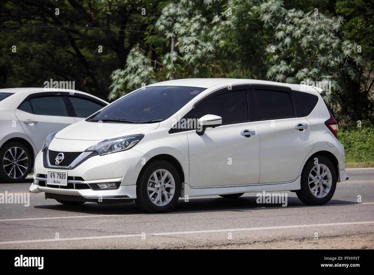 chiangmai, thailand - september 17 2018: private new eco car nissan