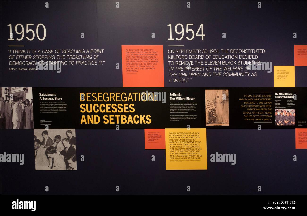 Delaware Historical society Wilmington - Stock Image