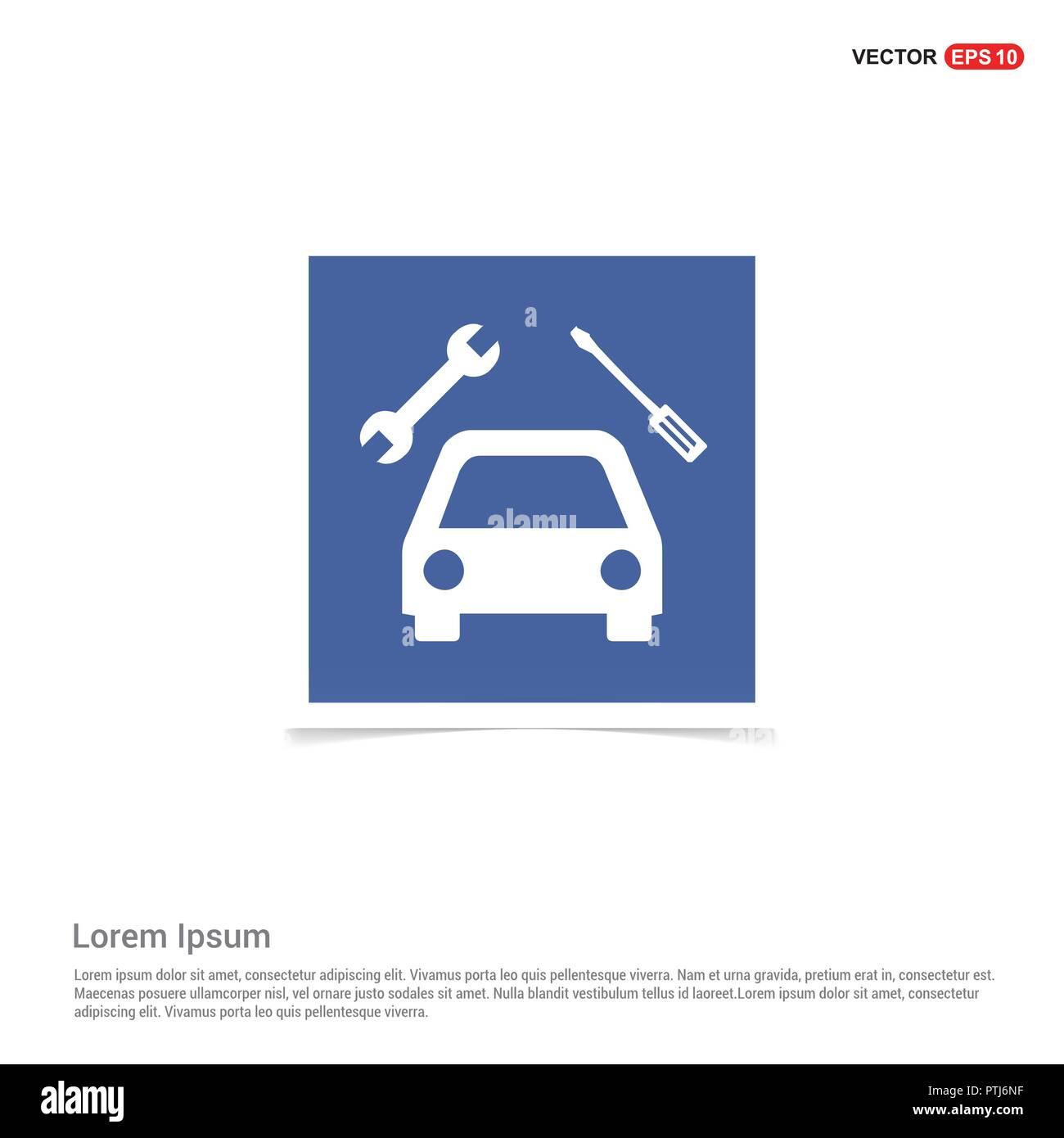 Repair Car Icon - Blue photo Frame Stock Vector Art & Illustration ...